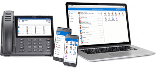 Mitel Phone with MiCloud Connect UI on Multiple Devices